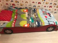 Red car bed single
