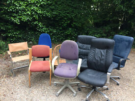 Selection of Assorted Office Chairs