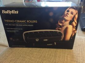 Babyliss thermo-ceramic rollers. Only used a few times. Changed hairstyle so no longer needed.