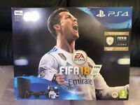 sony playstation 4 fifa 18 500gb bundle - 2x controllers brand new & sealed ps4
