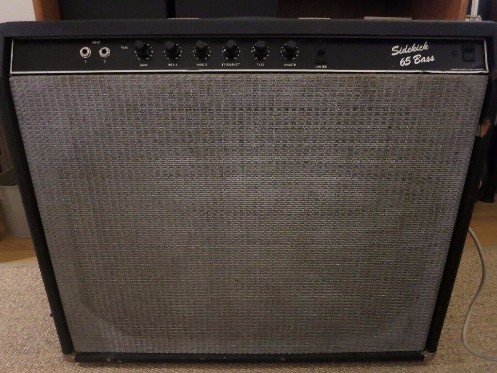 Fender Sidekick 65 Bass Solid State Combo Amp Amplifier Speaker Cabinet 100 ONO