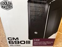 Cooler Master CM 690 III Advanced Mid Tower - with side Window - As New - £89