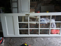 12 glass panel wooden door