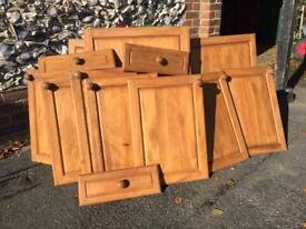 Kitchen cupboard doors and corner unit - solid wood