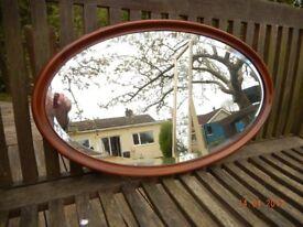 Oval Mahogany Oval Mirror