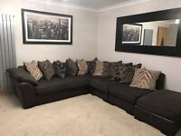 Martina dfs corner sofa. Professionally cleaned. Like new. Perfect condition