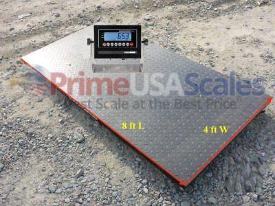 4x8 Floor Scale Optima Op-916 Pallet Scale Ntep Digital Indicator 2500 Lb
