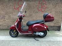 Piaggio Vespa GTS 250 scooter REDUCED - lots of mods, Scorpion Red, malossi shocks - Central London