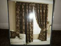 Brown colour curtains brand new