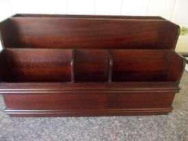 Vintage Librasco wooden letter rack very good condition