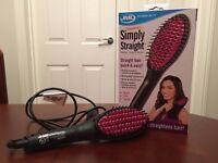 JML Simply Straight: Heated Ceramic Hair Straightener Brush