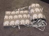 Elephant Cot Bumpers