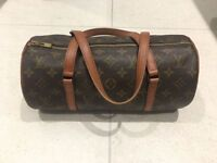 Authentic LV Louis Vuitton Papillon pouch Monogram canvas leather women's hand bag, RRP £835