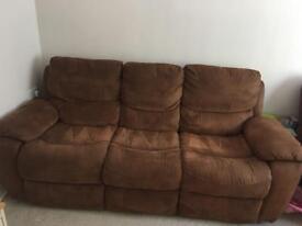 3 seater reclining sofa