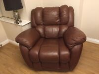 Leather sofa 3, and 2 seater with arm chair lazy boy
