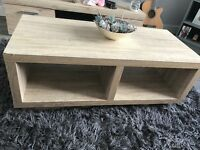 Coffee table white washed oak