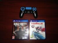 PS4 Controller & 2 Games
