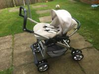 Slivercross pram Linear cream colour
