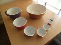 Ceramic Set of 8 Mixing Bowls