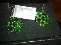 EXCLUSIVE RUSSIAN GREEN CHROME DIOPSIDE EARRINGS,