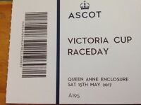 2 TICKETS FOR ASCOT RACES THIS SATURDAY 13TH MAY