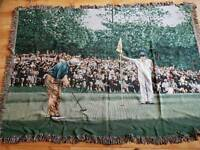 Golf mats or rugs throw overs