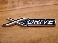 BMW XDRIVE BADGE - AVAILABLE AS SINGLE (FOR BOOT) OR PAIR (FOR WINGS) X DRIVE BADGES brand new