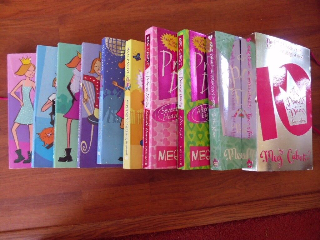 Full set of Princess Diaries books by Meg Cabot
