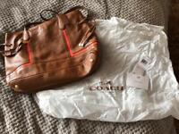 COACH tan coloured leather handbag