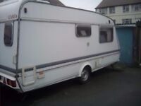 2 berth caravan Elddis gl 1993, in good condition for year no damp to include full awning