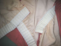Set lined pink curtains for caravan/motorhome use