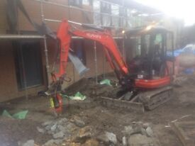Operated Mini Digger Hire From £160 Per Day Tel:07828 171 011