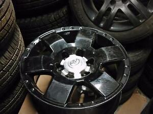 "OEM 17"" Toyota Tacoma alloy rims 6 x 139.7 freshly powder coated in black glass / OEM TPMS in stock"