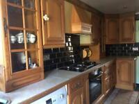 Wooden oak kitchen furniture