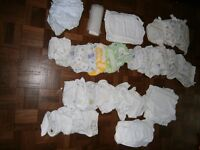 Re-usable nappies and grey nappy bucket