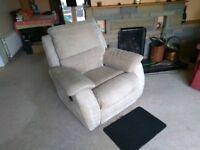 Electric reclining living room chair