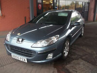 2005 05 LOW MILAGE PEUGEOT 407 HDI DIESEL SALOON GREAT SPEC MOT,D MAY 2017 ONLY £1795