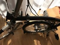 Brompton Black 3 Speed Foldable Bike