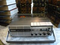 uher 4200 report L stereo reel to reel tape recorder with (44) by 5 inch tapes & double tape albums.