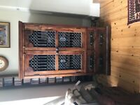 Jali Sheesham Wrought Iron Cupboard