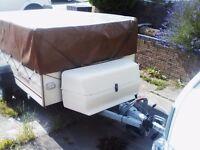 Pennine 4 berth folding caravan / trailer tent with awning