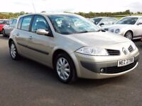 2007 renault megane dynamique with only 76000 miles, full history motd march 2018