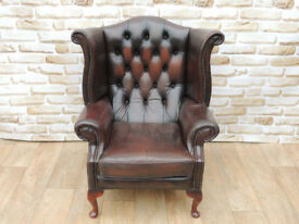 HIgh back Chesterfield chair (Delivery)
