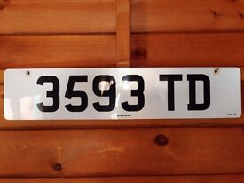 3593 TD (Private Number Plate)
