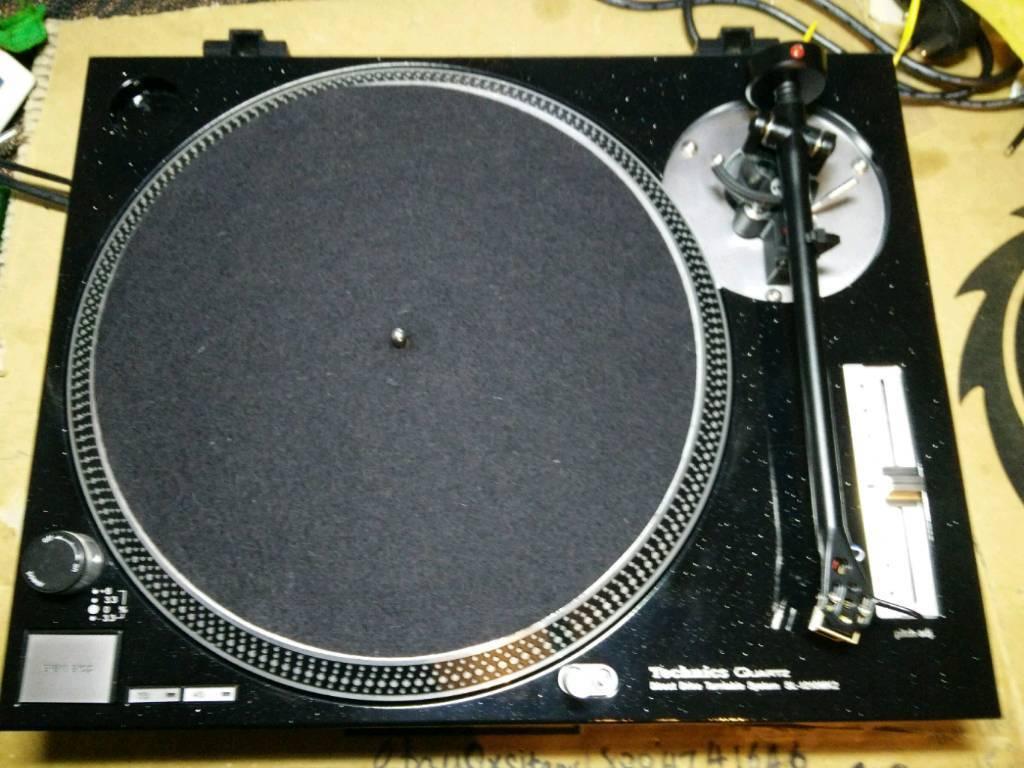 Technics SL-1210 MK2 Turntable (Metallic Black) + Rega RB-251 Tonearm