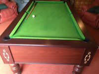 Pool Table with Slate Bed 7ft x 4ft with accessories