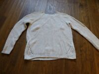 as new Fat face womens size 14 cream knitted Jumper