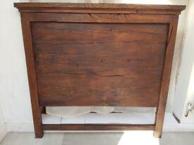Solid oak rustic kingsize headboard