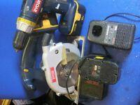 Ryobi 18V cordless set