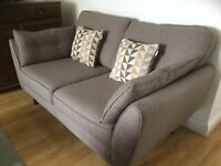 French Connection Two Seater Sofa. Mocha. Cost £829